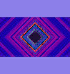 Infinite rhombic or square colorful tunnel vector