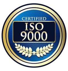ISO 9000 vector image