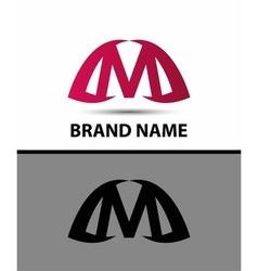 Logo m letter design template vector