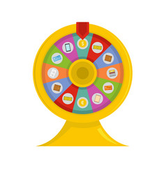 Lucky wheel icon flat style vector