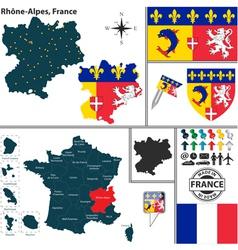 Map of Rhone Alpes vector
