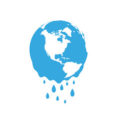 melting planet earth concept global warming vector image