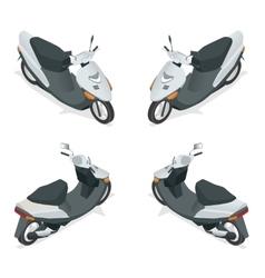 Motorcycle bike motorbike scooter Flat 3d vector