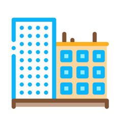 multi-storey building icon outline vector image