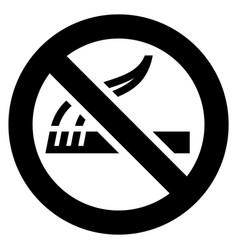 no smoking black sign vector image