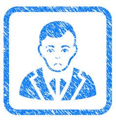 Noble gentleman framed stamp vector