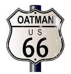 Oatman route 66 sign vector