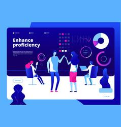 online education landing enhance skill learning vector image