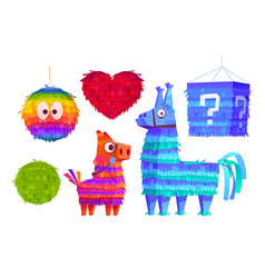pinata for birthday party mexican holiday vector image