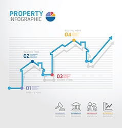 Property business diagram line style vector