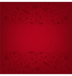 Red Background With Menu vector image