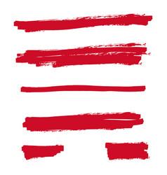 Red highlighter marker vector