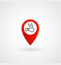 red location icon for steak house eps file vector image