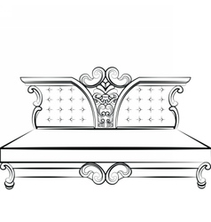 Royal Sofa in Baroque style vector