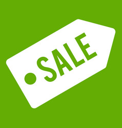 sale icon green vector image