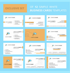 set of 12 search on cloud creative busienss card vector image