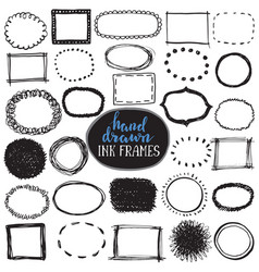 Set of sketch drawn frames vector