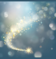 spiral trail with bokeh effect eps 10 vector image