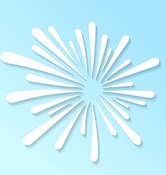 Splash white abstract pattern template vector image