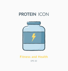 Sport nutrition icon isolated on white vector