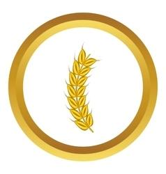 Stalk of ripe barley icon vector
