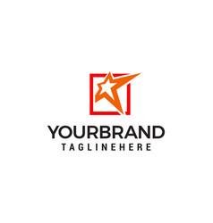 star logo design concept template vector image