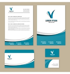 Template corporate style vector image