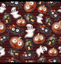 texture cute characters halloween holiday vector image