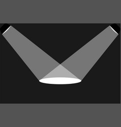 two black ceiling lamp in a flat design a ray of vector image
