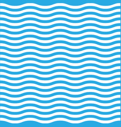 wavy line seamless pattern in blue and white vector image