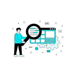 web programming concept vector image