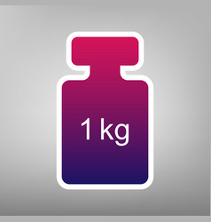 weight simple sign purple gradient icon vector image