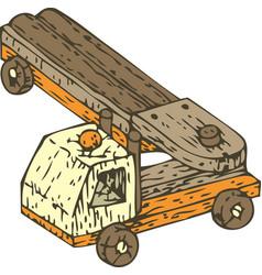 wooden auto truck vector image