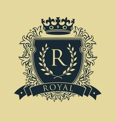 Coat of arms heraldic royal emblem shield with vector