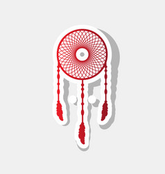 dream catcher sign new year reddish icon vector image