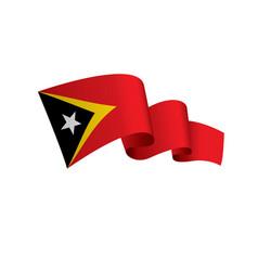 east timor flag vector image