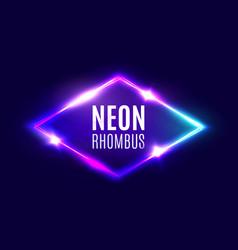 night club neon rhombus retro light lozenge sign vector image vector image