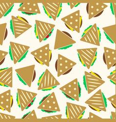 set of color tortilla or sandwich tacos food vector image vector image