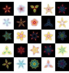 set of design elements flowers vector image
