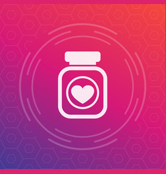 Bottle of pills icon pictogram vector
