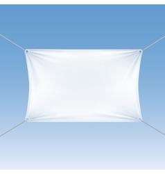 White Blank Empty Horizontal Rectangular Banner vector image vector image