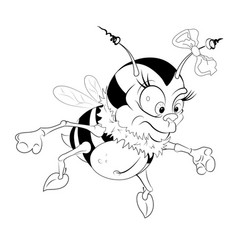 funny little bumble bee eps 10 vector image