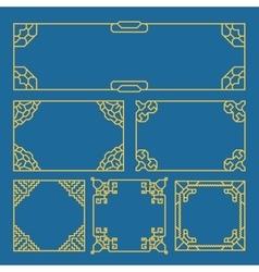 Korean chinese japanese vintage frames borders vector image