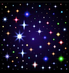 light glare space stars of lens vector image