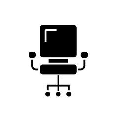 office chair - ceo icon vector image