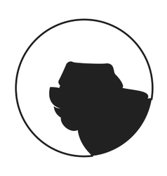 Silhouette of a dog head chow vector
