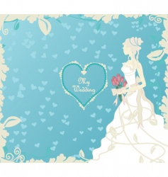 wedding cover vector image