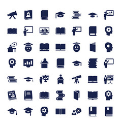 49 learning icons vector