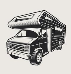 A camping van vector