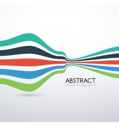 abstract flat lines background for business vector image
